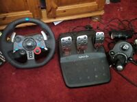 Logitech G29 Racing Wheel With Gear Stick