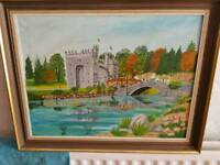 Oil painiting of bunratty castle in ireland