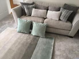 Textile Bundle of cushions and rug + curtains