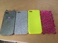 Set of 4 - I phone 5 covers