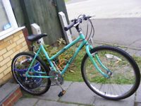 "LADIES 26"" WHEEL BIKE 18"" FRAME WITH FITTED LIGHTS IN GREAT WORKING ORDER"