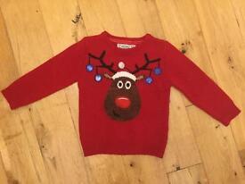 Kids Children's Christmas Jumper age 3 -4 years