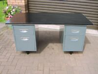 Office desk , 4 drawer ,very good condition ,sturdy metal construction