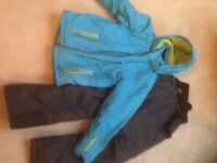 Childs ski jacket and salopettes