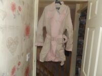 pink and biege warehouse coat