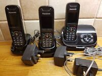 PANASONIC KX-TG8523 - digital cordless phone - 3 handsets - with answer phone