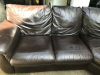 brown leather corner sofa- good condition. Originally bought for £1800 from DFS.