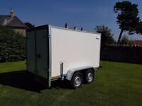 Twin axle box van trailer twin axle with brakes - Full EU Only £2700