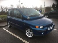 04 FIAT MULTIPLA 1.9 DIESEL ELX JTD 6 SEATER MOT AUG 2017 DRIVES AND LOOKS GOOD