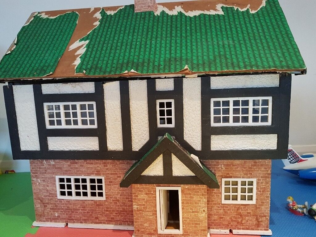 Old wooden dolls house ready for revamp