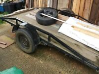 Flatbed trailer for sale £250 useful strong and solid trailer