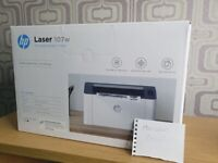 HP 107w Wireless Laser Printer ✅ Free Ink Included ✅ NEW & SEALED
