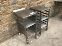 2 bakers tray stands