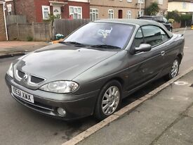 Renault megane cabriolet with alloy wheels cd radio remote locking mot til end of may 2017 x x x x