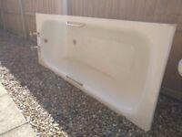 Top quality Kaldewei white enamel bath, toilet and pedestal sink