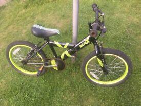 Zinc Max bike 18 inch wheels for ages 6-9. FAVERSHAM AREA