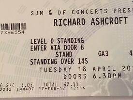 2 Richard Ashcroft tickets 18th April SSE Hydro