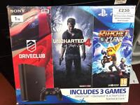 PlayStation 4 Slim, 1TB Console, Games includes