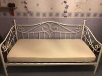White day bed with mattress for sale