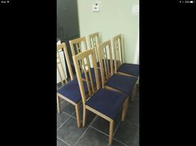 light wood high back chairs x 6