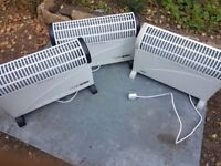 3 electric heaters