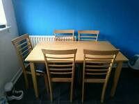 GONE PENDING COLLECTION Table and chairs for 6