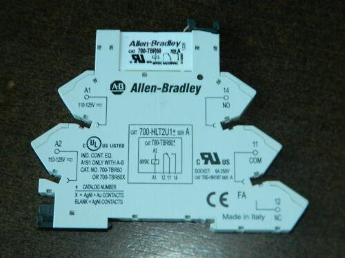 ALLEN BRADLEY 700-HLT2U1 SER A TERMINAL BLOCK RELAY W/ 700-TBR60 OVER 600+ AVAL