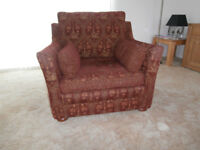 Multiyork 'Hadleigh' Large Armchair and Footstool- Excellent condition