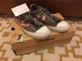 """Retro 1977 """"Re-Issue"""" grey/pink Converse - size 8"""