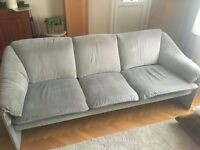Light grey sofa & arm chair set (3 and 1 seater)