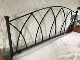 Steel headboard for Super King bed