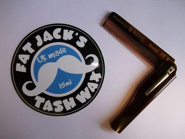 Kent 20T Folding Pocket Moustache & Beard Comb Hand Made - CHEAP UK SELLER!