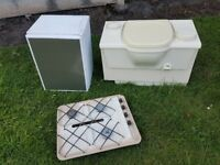 cassette toilet camping fridge and caravan hob