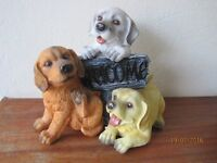 Ornamental Puppies Statues