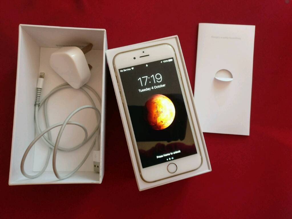 iPhone 64gb, gold, VGC, boxed with chargerin Failsworth, ManchesterGumtree - Apple iPhone 6. 64gb. O2 network, can be unlocked. Very good condition. Comes with box, charge lead and plug. Looks in perfect condition apart from two minor scuffs on 2 of the corners, barely recognisable. Comes with a hefty 64gb memory so you dont...
