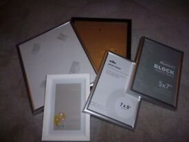 Selection of 5 photo frames