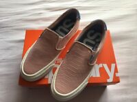 Superdry Dion Slip on Sneakers Pink New With Box