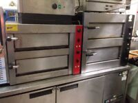 CATERING COMMERCIAL DOUBLE DECK PIZZA OVEN CUISINE FAST FOOD TAKE AWAY RESTAURANT PIZZA SHOP KITCHEN