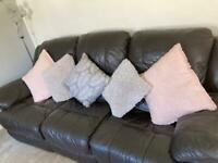 3 Seater & 2 Seater Leather Recliner Sofas GREAT CONDITION