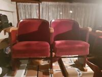 Antiques theatre chairs 1950 -1960