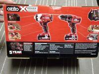 Ozito X Power Drill & Impact Driver Kit