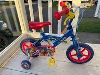 12in paw patrol bike and helmet