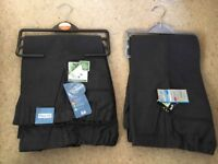 New Boys grey age 4 years school trousers x4 pairs from TU Sainsburys, two pairs are plus fit,