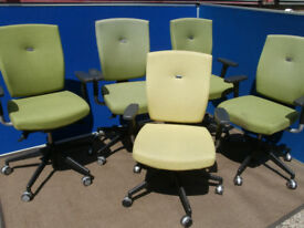 Senator Swivel chairs Green x 3 left (Delivery)