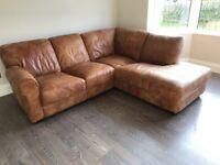 Barker & Stonehouse Houston Leather Corner Sofa