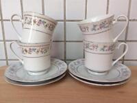 Beautiful 25 pieces vintage fine bone china tea set plates cups