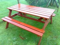 large garden picnic bench