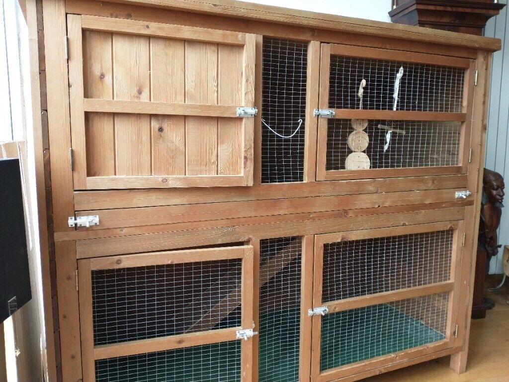 Double rabbit/guinea pig hutch   in Croft, Cheshire   Gumtree