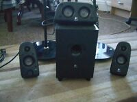 LOGITECH 5.1 SURROUND SOUND SPEAKERS WITH STANDS
