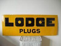 1930s,Lodge Spark Plugs,Enamel Sign,Metal Advertising,Garage,Morris,Austin,Mini,Ford,Jaguar,AA,RAC
